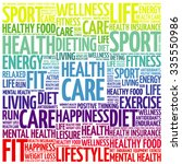 health care word cloud... | Shutterstock .eps vector #335550986