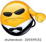 bodyguard emoticon listening to ... | Shutterstock .eps vector #335559152