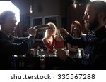 people in the bar. night club | Shutterstock . vector #335567288