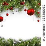 christmas background with fir... | Shutterstock .eps vector #335580092