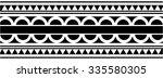maori   polynesian style... | Shutterstock .eps vector #335580305