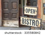 Vintage Metal Rusty Open Bistr...