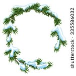 Christmas Frame Spruce Branche...