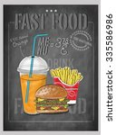 fast food menu   vector... | Shutterstock .eps vector #335586986