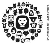 Animal Face Flat Character Fla...