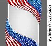 usa national flag banner... | Shutterstock .eps vector #335602085