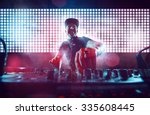 dj on turntables | Shutterstock . vector #335608445
