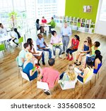 college students learning... | Shutterstock . vector #335608502