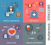 set of medical care vector... | Shutterstock .eps vector #335611385