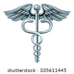 caduceus medical symbol or... | Shutterstock .eps vector #335611445