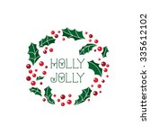 vector christmas card with... | Shutterstock .eps vector #335612102