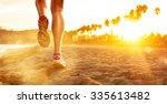 running at the beach | Shutterstock . vector #335613482