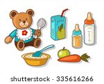 illustrations of different baby ... | Shutterstock .eps vector #335616266