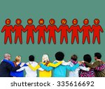 community people togetherness... | Shutterstock . vector #335616692