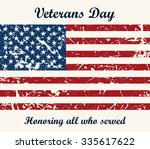 american flag vintage textured...   Shutterstock . vector #335617622