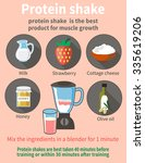 the recipe for a protein... | Shutterstock .eps vector #335619206