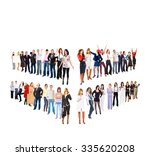 corporate teamwork together we... | Shutterstock . vector #335620208