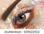 colorful and stylish make up