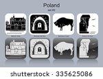 landmarks of poland. set of... | Shutterstock .eps vector #335625086