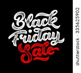 black friday sale handmade... | Shutterstock .eps vector #335625902