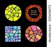 set of mosaic design elements... | Shutterstock .eps vector #335636072