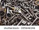 A Pile Of Antique Keys