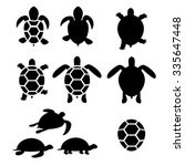 Set Of Turtle And Tortoise...