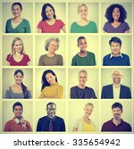 people diversity faces human... | Shutterstock . vector #335654942