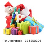bag of gifts isolated on a... | Shutterstock . vector #335660306