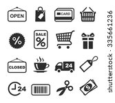 shopping icon black and white... | Shutterstock .eps vector #335661236