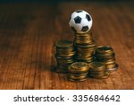 Soccer Bet Concept With Small...
