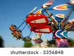 carnival ride with motion blur... | Shutterstock . vector #3356848