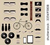 set hipster | Shutterstock .eps vector #335695808