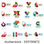 geometric shapes company logo... | Shutterstock .eps vector #335700872