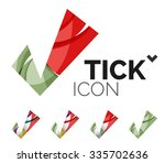 set of abstract ok and tick... | Shutterstock .eps vector #335702636