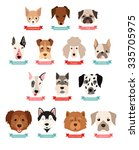 dog breeds collection with... | Shutterstock .eps vector #335705975