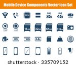 mobile device components vector ... | Shutterstock .eps vector #335709152