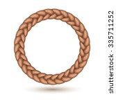braid border in circle shape.... | Shutterstock .eps vector #335711252