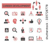 career development  icons ... | Shutterstock .eps vector #335728778