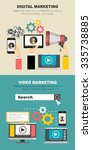 set of flat design illustration ... | Shutterstock .eps vector #335738885