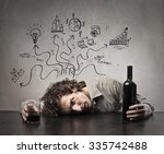 solving problems with alcohol | Shutterstock . vector #335742488