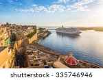 the ancient walls of valletta... | Shutterstock . vector #335746946