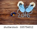 2016 year written laces of... | Shutterstock . vector #335756012