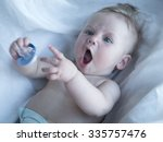picture of baby playing with... | Shutterstock . vector #335757476