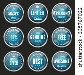 collection of light blue labels ... | Shutterstock .eps vector #335767022