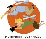 helicopter parents hovering... | Shutterstock .eps vector #335770286