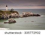 Yaquina Head Lighthouse in Newport, Oregon, USA.