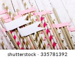 Striped Mixed Gold And Pink...