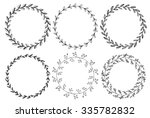 Set Of Hand Drawn Vector Round...