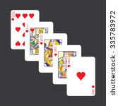 playing cards  hearts | Shutterstock .eps vector #335783972